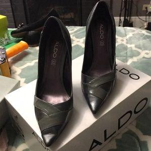 Grey heeled Aldo shoes